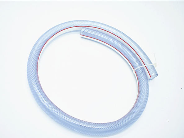 Fiber strengthen PVC braided hose with line