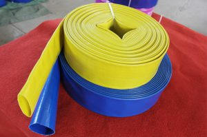 PVC lay flat water hose for use in agriculture
