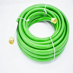 Flexible braided PVC garden hose