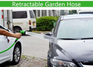 Retractable garden hose